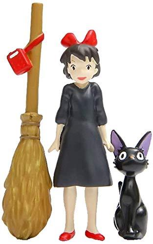 Kiki's Delivery Service - Juego de figuras de gatos (anime japonés Miyazaki, con espiritual, modelos de estatua de muñecas, para decoración de micro paisaje, para niños, el mejor regalo (color : A)