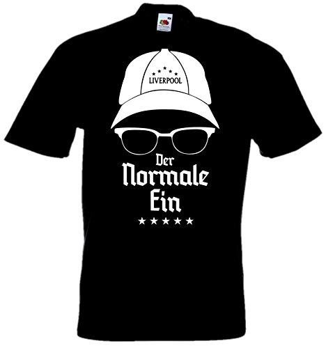 Holashirts Mallorca Klopp T-Shirt DER Normale EIN Übersetzungsfehler Fun-Shirt Liverpool No Official Fan Art (schwarz/weiß, XL)