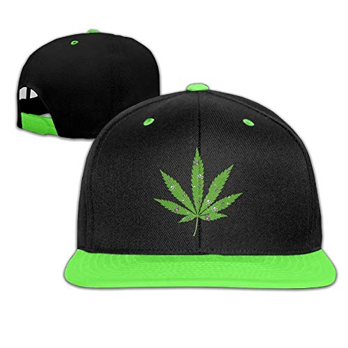 Weed Adjustable Snapback Kids Hip Hop Hat Baseball Cap