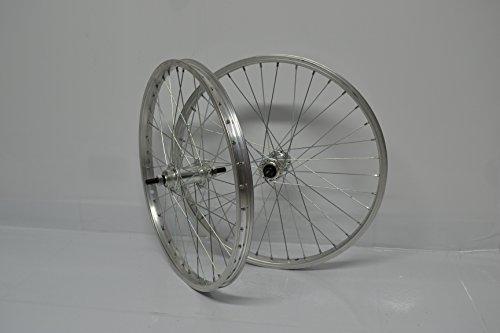 Cicli Ferrareis Ruote Cerchi Bici Bicicletta Olanda GRAZIELLA 26X1.3/8 da 1 A 7V Silver Personalizzabile - 7v