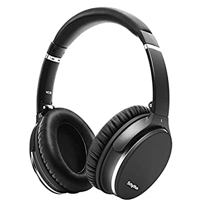 Noise Cancelling Wireless Headphones Bluetooth 5.0,Srhythm NC35 Lightweight Over-Ear Headset with CVC8.0 Mic,Type-C Fast Charge,40+ Hrs Playtime,Voice Call (Renewed) from Srhythm