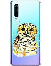 Oihxse Compatible con Huawei P Smart/Enjoy 7S/Honor 9 Lite Funda Suave Gel TPU Silicona Cristal Transparente Carcasa Acuarela Animal Pintado Patrón Protectora Estuche Bumper Caso Case (B5)