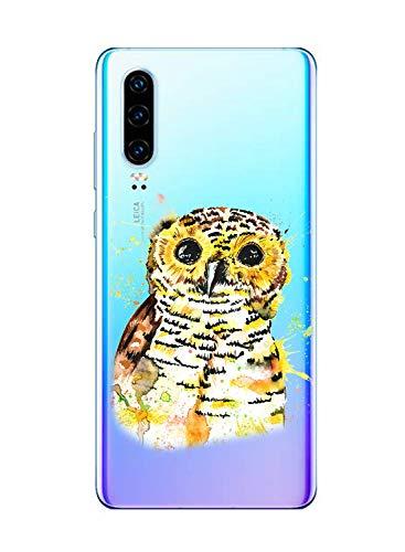 Oihxse Compatible con Huawei P9 Lite 2017 Funda Suave Gel TPU Silicona Cristal Transparente Carcasa Acuarela Animal Pintado Patrón Protectora Estuche Bumper Caso Case (B5)