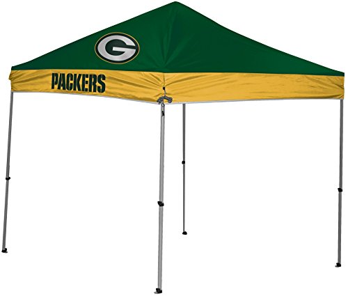 NFL Instant Pop-Up Canopy Tent with Carrying Case, 9x9, Green Bay Packers