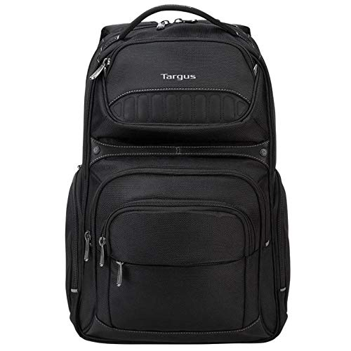 Targus Legend IQ Backpack Laptop bag for Business Professional and College Student with Durable Material, Pockets Throughout, Headphone Cord Pocket, Trolley Strap, Fits 16-Inch Laptop, Black (TSB705US)