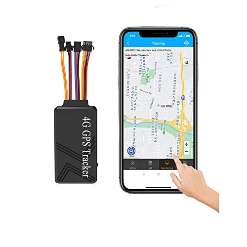 Reiwour 4G Wired Car GPS Tracker for Vehicles No Monthly Fee Hidden Real-Time Hardwired Car Tracking Device No Subscription for Truck Trailer Motorcycle Fleet Location Locator with Power/Oil Cut Off