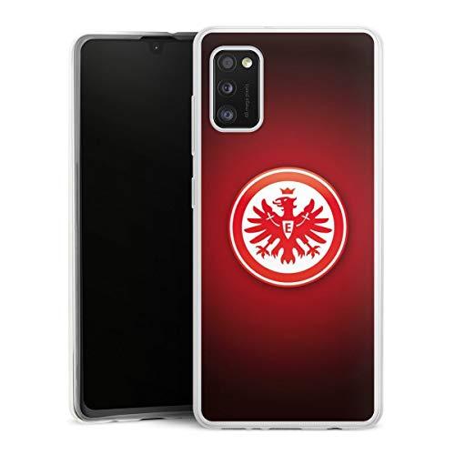 DeinDesign Slim Case extra dünn kompatibel mit Samsung Galaxy A41 Silikon Handyhülle transparent Hülle Eintracht Frankfurt Offizielles Lizenzprodukt Wappen