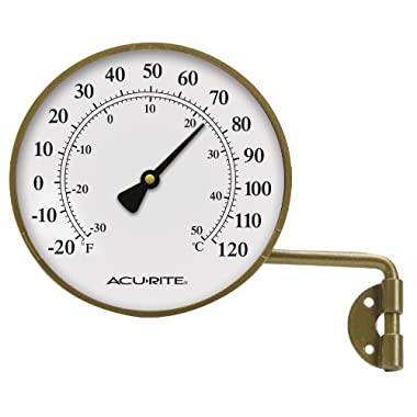 AcuRite 00334 4-Inch Brass Swivel Thermometer
