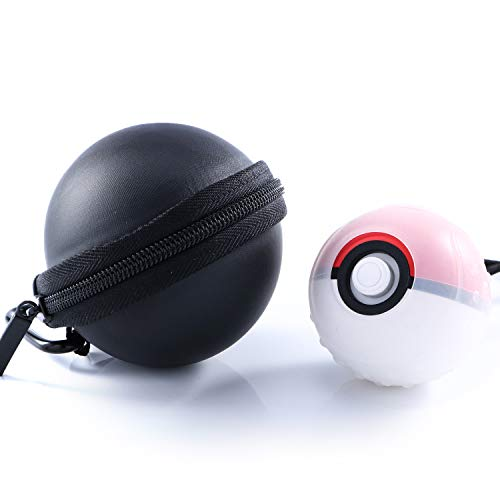 Carrying Case and Clear case for Nintendo Switch Poke Ball Plus Controller, Protective Case for Poke Ball Plus and Silicone Clear Case for Poke Ball Plus - Black
