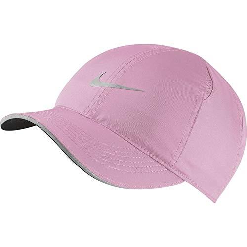 NIKE W Nk Fthlt Cap Run Gorra, Mujer, Pink Rise/Reflective silv, Talla Única