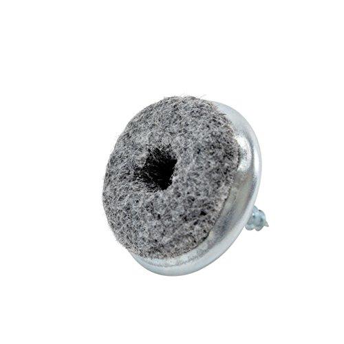 haggiy Filzgleiter - Parkettgleiter zum Schrauben vernickelt, rund 20 mm (20 Stück)