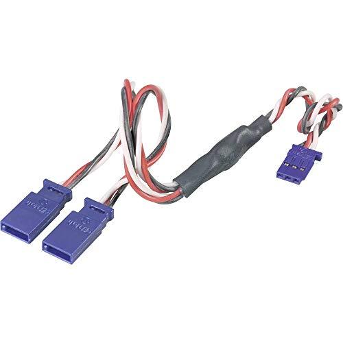 Modelcraft Servo Y-Kabel [2X Futaba-Stecker - 1x Futaba-Buchse] 30.00 cm 0.35 mm²