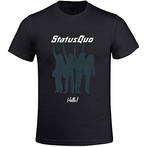 Status Quo Hello Men's T Shirts with Designs Round Neck M