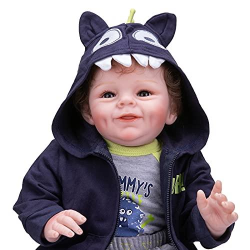 22'Reborn Baby Shaya En Versión Boy Versión Cara Dulce Lindo Bebé Niño Niño Muñeca 3 Mes Real Baby Tamaño Suave Touch Muddly