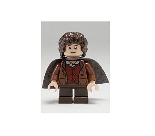 LEGO Herr Der Ringe: FRODO BAGGINS Minifigur mit grauem Umhang