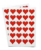 48 Corazón Rojo Pegatinas