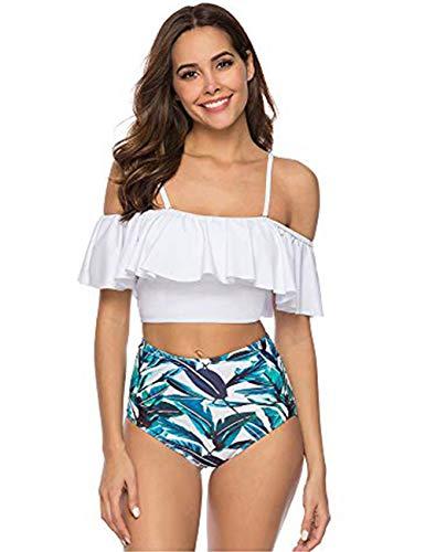 FeelinGirl Damen Bikini mit Bügel Schwimmen Mode Halterneck Strand Sommer Bikinis