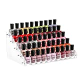 Cq acrylic 45 Bottles of 5 Layers Clear Nail Polish Rack,Nail Polish Storage Organizers and Storage Box,Clear Paint Bottles Holder and Essential Oil Organizer,Pack of 1