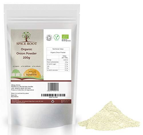 Bio Cipolla in polvere 200g (Bio Onion Powder) - Certificato biologico, Qualità premium | Gusto e aroma eccellenti | Vegano