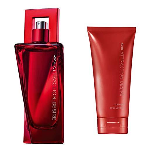 AVON ATTRACTION DESIRE Set Eau de Parfum Spray 50ml und Körperlotion 150ml für Sie