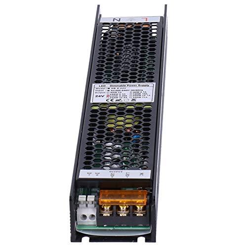 SALUTUYA Triac PWM Smart Dimming Touch Suministros industriales Fuente de alimentación LED Regulable para LED de Interior para Tiras de luz(24V 6.25A)