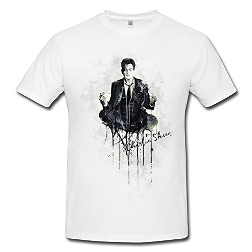 Charlie Sheen Premium Herren T-Shirt Motiv aus Paul Sinus Aquarell