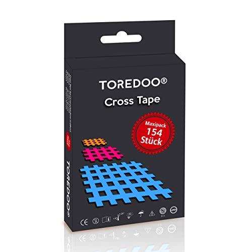 TOREDOO Cross Tape Gittertape 154 Stück - Akupunkturpflaster Gitterpflaster Mix Box - klein groß Typ A B C Triggerpunkt Akupunktur Crosstape Set