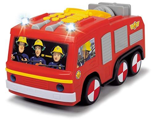 Dickie Toys Feuerwehrmann Sam Super Tech Jupiter, Spielzeugauto mit Batteriebetrieb, programmierbare Fahrt- und Aktionsfunktionen, Licht & Sound, 28 cm