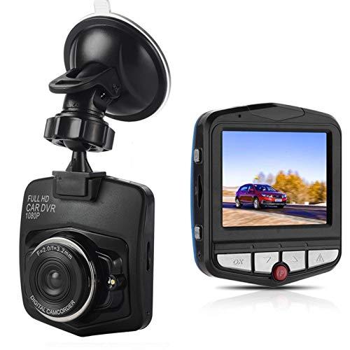 WJY Grabadora de Conducción, 2.2' SD 720P Cámara de Coche con 170° Gran Angular, Apoye La Visión Nocturna, Grabación En Bucle Y Detección de Movimiento (Color : Black)