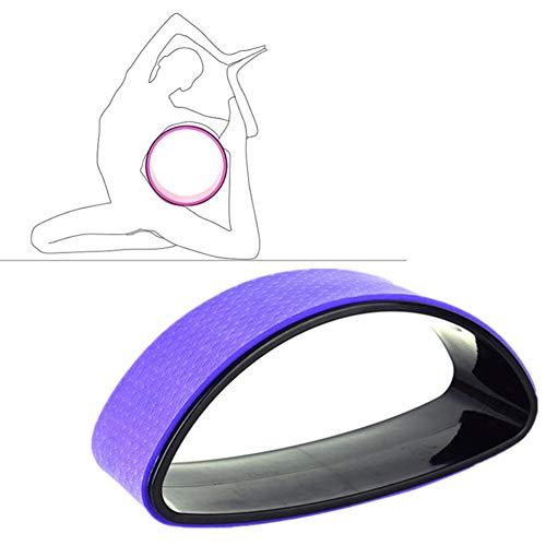 DC CLOUD Yoga Wheel Rueda De Yoga Rueda de Yoga para Estiramiento Yoga Estiramiento Rueda Antideslizante Rueda de Apoyo para Yoga Poses Purple,-