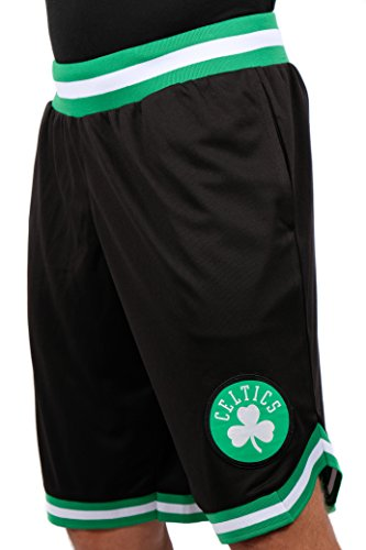 Ultra Game NBA Boston Celtics Mens Woven Basketball Shorts, Team Color, X-Large