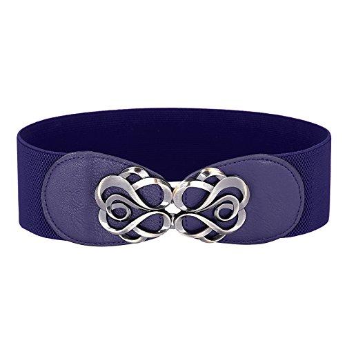 Women Navy Blue Cinch Belts M CL413-7