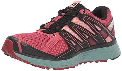 Salomon X-Mission 3 W, Zapatillas de Trail Running Mujer, Rosa Azul Garnet Rose Trellis Coral Almond, 36 EU