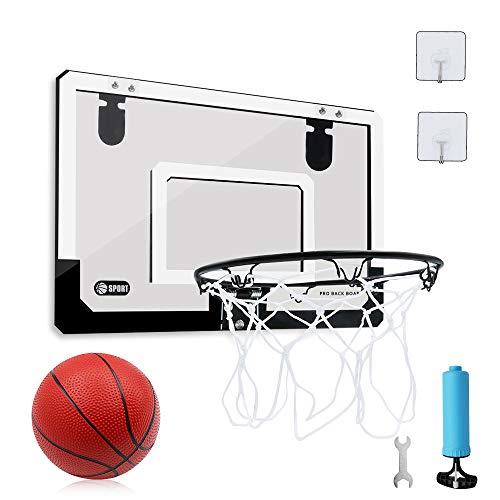 バスケットゴール 子供用 家庭室内·屋外 壁取り付 ミニバスケットボード玩具 45*30 ドア掛け式と壁掛け式 ダンクシュート可能 ボール付き レジャー ファミリースポーツセット ストレス解消 …