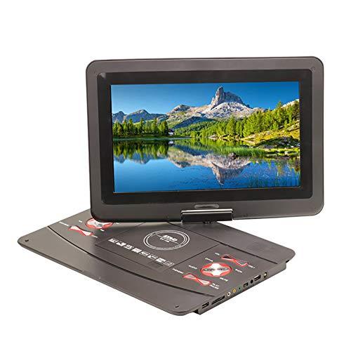 HANG Lecteur DVD Portable Lecteur Blu-Ray 12 Pouces avec écran Rotatif à 270 degrés, Batterie Rechargeable, Lecteur DVD de Voiture Compatible USB et Carte SD