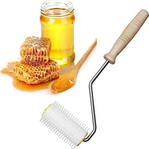 UPKOCH Edelstahl Entdeckelungsgabel Imkereiausrüstung Bienenzucht Nadel Bienen Gabel Honig Kamm für Entdeckelung Imker Werkzeuge