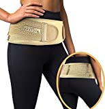 Vriksasana Sacroiliac Hip Belt for Women and Men That Alleviate Sciatic, Pelvic, Lower Back and Leg Pain, Stabilize SI Joint | Trochanter Belt | Anti-Slip and Pilling-Resistant (Nude, Plus)