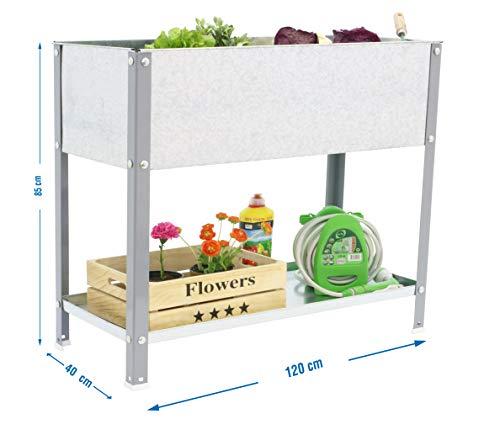 Huerto urbano alto Urban Garden Top Gris/Galvanizado Simonrack 850x1200x400 mms - Huerto - Huerto en casa - macetero metálica 150 Kgs de capacidad