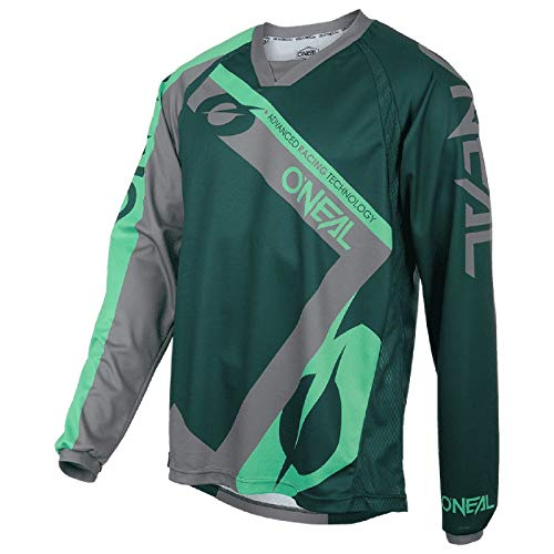 O'NEAL   Motocross-Shirt Langarm   MX MTB Mountainbike   Leichte Materialien, Atmungsaktives Material, Bequeme & lockere Passform   Element FR Jersey Hybrid   Erwachsene   Grün Mint   Größe XL