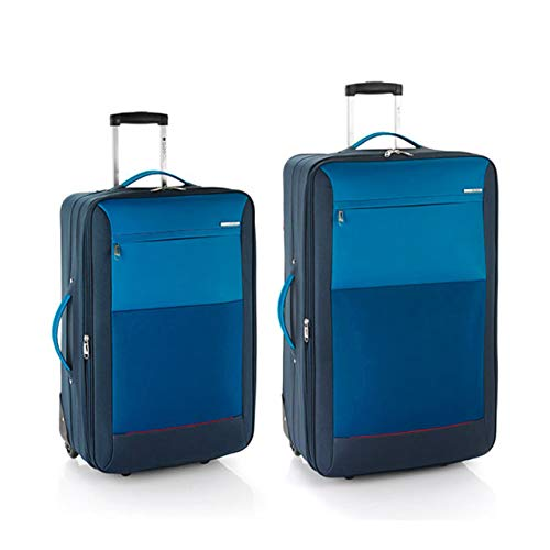 Gabol Juego de 2 Maletas Reims Mediana y Grande en Polyester Color Azul