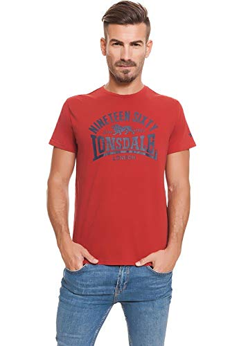 Lonsdale London Nineteen Sixty T-shirt rood maat S, M, L, XL, XXL.