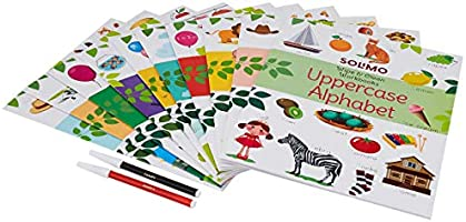 Amazon Brand - Solimo Wipe & Clean Workbooks (Set of 10 with 2 pens)
