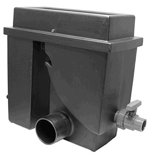 Spaltsiebfilter Bogensiebfilter Teichfilter schwarz Spaltsieb/Bogensieb 300µ mit Schmutzauslass