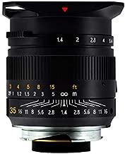 TTArtisan 35mm F1.4 Full Fame Lens for Leica M-Mount Cameras Like Leica M-M M240 M3 M6 M7 M8 M9 M9p M10 (Black)