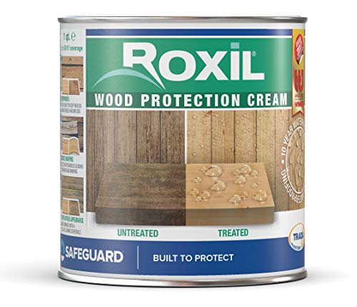 Roxil Wood Protection Cream Instant Waterproofing Clear Treatment, Weatherproofs: Fences, Decking, Furniture, Sheds (1 Quart)