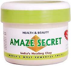 Amaze Secret Skin Glow & Skin Repair Clay Mask Powder Detox, 250 gram, Natural Organic Detoxifying Healing Facial Mask to Exfoliate and Deep Pore Cleansing, Remove Excessive Oil