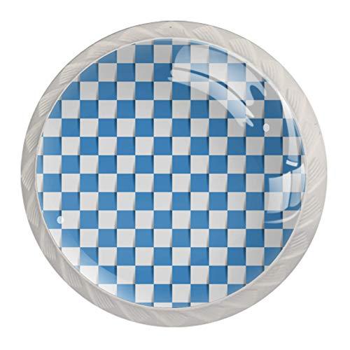 Tiradores de cajones azules para cocina, dormitorio, aparador, muebles de baño, puerta (4 unidades)