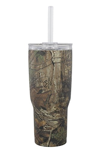 Reduce Tumbler, 24oz - Reduce Cold-1 Camo Tumbler With Lid and Straw - 24 Hours Cold - Stainless Steel, Sweat-Proof Body - Cupholder Friendly, Perfect for Water and Coffee - Camo
