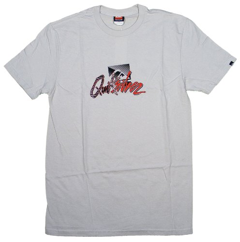 Quiksilver Backlash - Camiseta de Manga Corta, diseño de Niebla - Gris - Medium