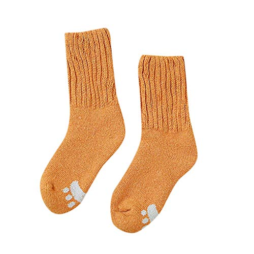 Lazzboy Frauen Herbst Winter Lässig Dickes Warmes Rohr Feste Socken Damen Wollsocken Warm Dick Thermosocken(E)